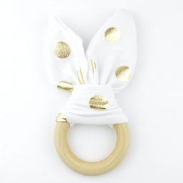 Bijtring bunny wit goud - Style D'lx | Betaalbare lifestyle luxe