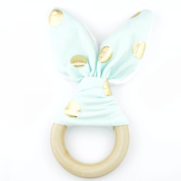 Bijtring bunny mint goud - Style D'lx | Betaalbare lifestyle luxe