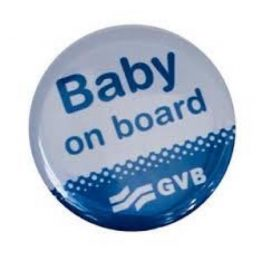 Gratis GVB Baby on board button | Style D'lx betaalbare lifestyle luxe