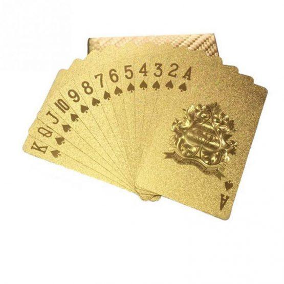 Waterproof speelkaarten goud | Style D'lx betaalbare lifestyle luxe