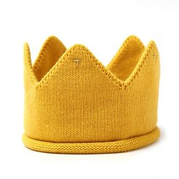 Wollen kroon - Okergeel | Style D'lx betaalbare lifestyle luxe