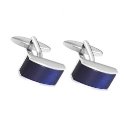Manchetknopen - Blauw bovenkant | Style D'lx - Betaalbare lifestyle luxe