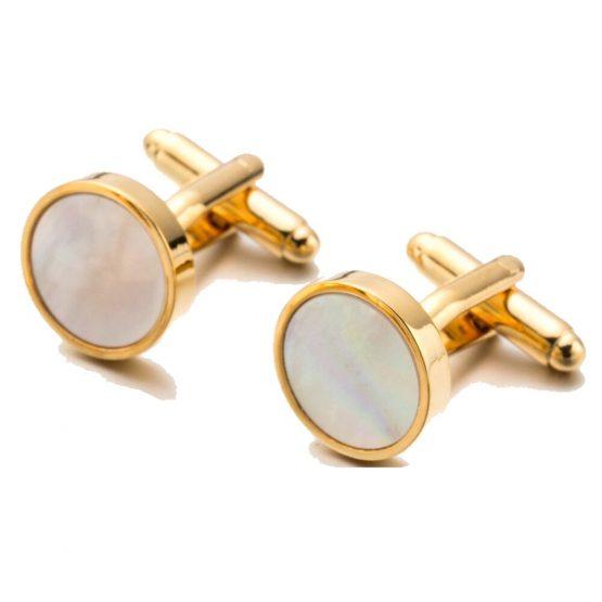 Manchetknopen - Parelmoer goud | Style D'lx betaalbare lifestyle luxe