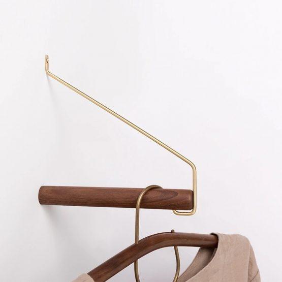 Minimalistische kapstok - Notenhout | Style D'lx - Betaalbare lifestyle luxe