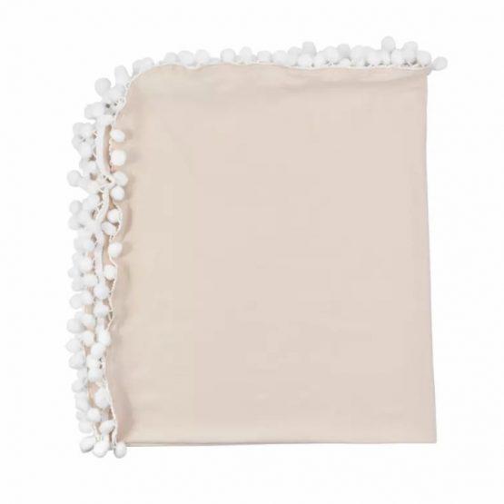 Pompom deken - Katoen ivoor | Style D'lx - Betaalbare lifestyle luxe