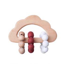 Bijtring wolk -Bordeaux marmer